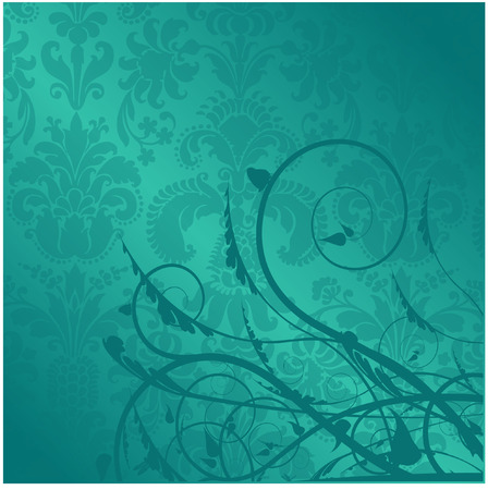 antique swirl design Vector