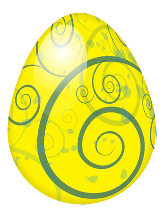 swirl easter egg Vector