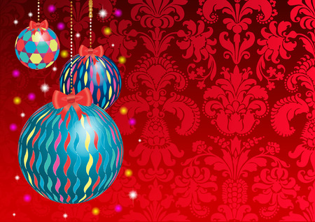 damask christmas background Vector