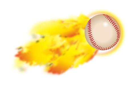 free photos: flaming baseball