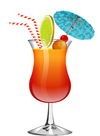 exotic drink Vector