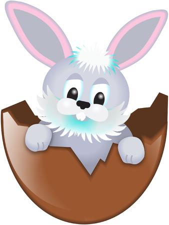 osterhase: easter bunny in egg