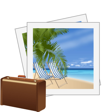 snaps: HOLIDAY WITH SUITCASE AND SNAPS Illustration