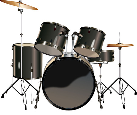 12 897 drum set stock vector illustration and royalty free drum set rh 123rf com Animated Drum Set drum set clipart free