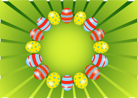 EASTER EGG CIRCLE Vector