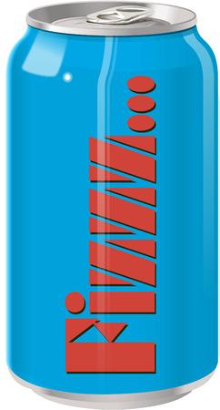 non alcohol: Lata de refresco