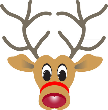red nose: cute rudolph