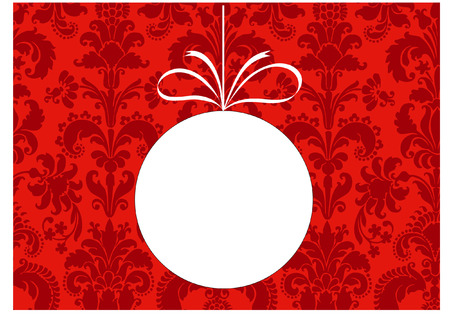 damask christmas bauble blank Vector