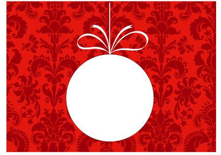 damask christmas bauble blank Vector