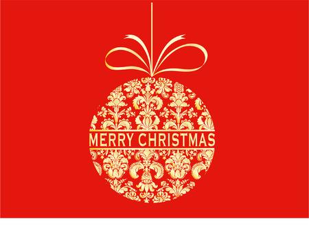 damask christmas bauble Vector