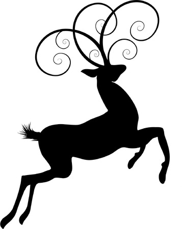 ornate deer Vector