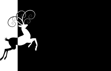 festive two tone deer Vector