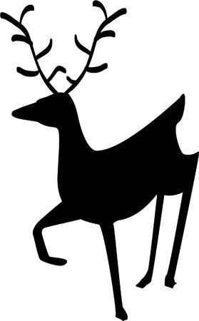 festive deer Vector