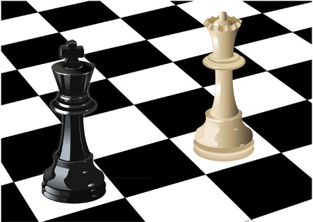 CHESS KING AND QUEEN Vector
