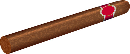 havana cigar: cigar Illustration