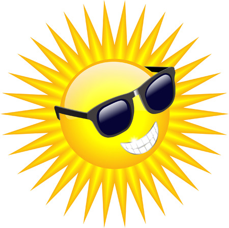 sunnies: COOL SUN WITH SUNGLASSES Illustration