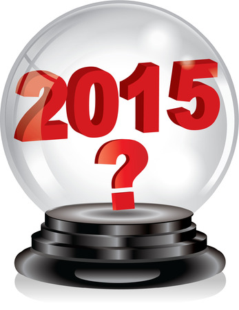 stock predictions: SFERA DI CRISTALLO 2015 Vettoriali