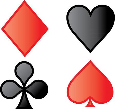 DIAMOND HEART CLUB SPADE Illustration