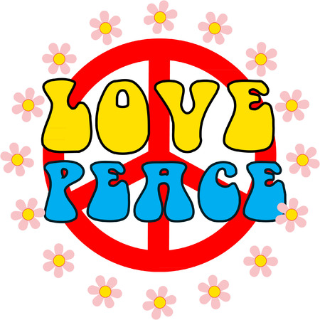LOVE AND PEACE Vector