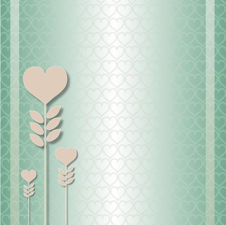 hearts growing Vector