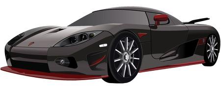 FAST BLACK SPORTS CAR Vector