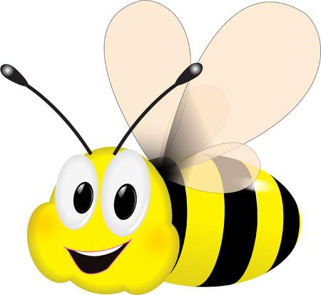 귀여운 꿀벌 일러스트