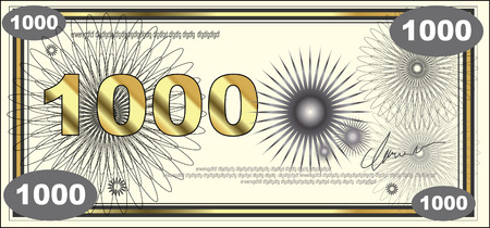falsification: BANKNOTE on white