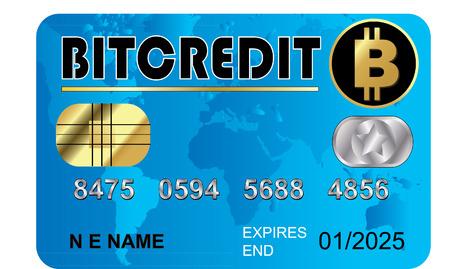 BITCOIN CREDIT CARD Illustration
