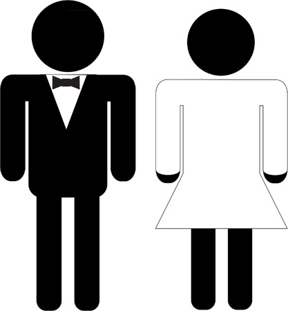 man and wife symbol