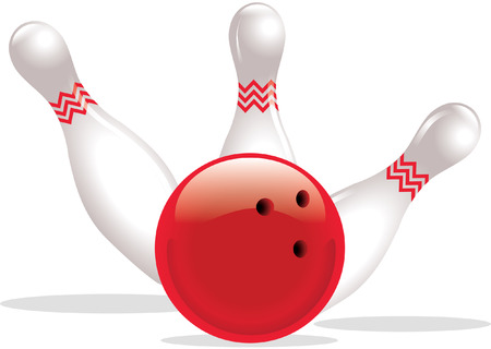 BOWLING BALL AND SKITTLES Vector