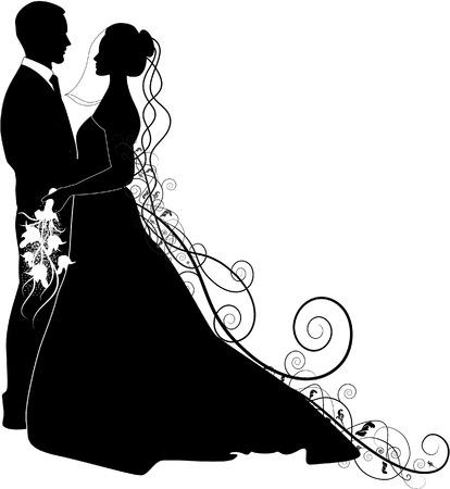 prinzessin: Braut und Bräutigam Illustration