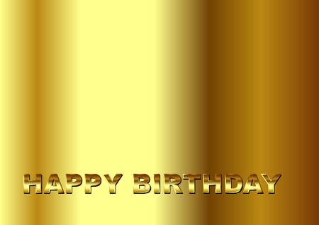 gold happy birthday Vector