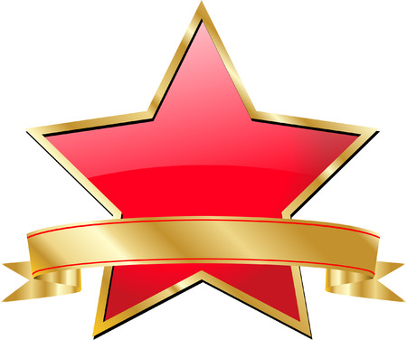 star with banner