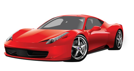 RED FAST SPORTS CAR Illustration