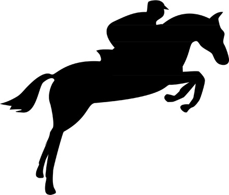 horse show: SHOW JUMPER Illustration