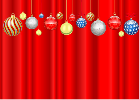 christmas decoration with backdrop Vector