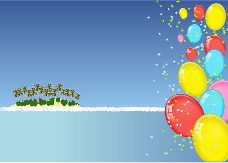 play yoyo: island party Illustration