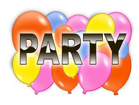 party with balloons Vector