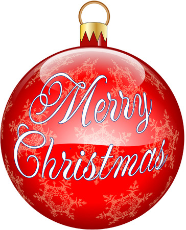 christmas bauble message Vector