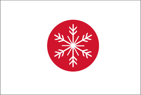 JAPAN SNOWFLAKE FLAG Vector