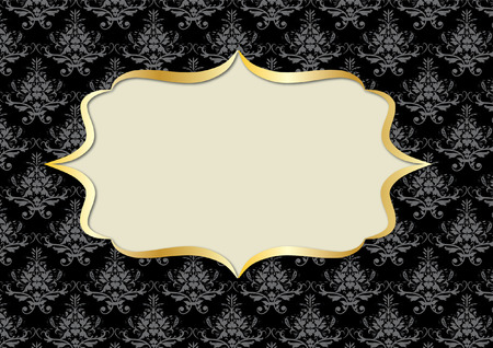 damask frame Vector