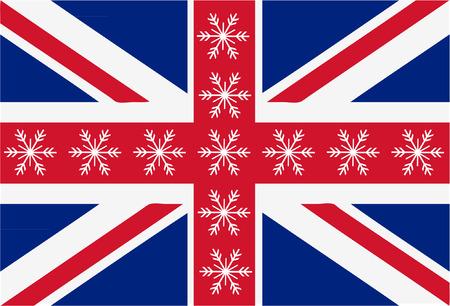 Union jack snowflake flag Illustration