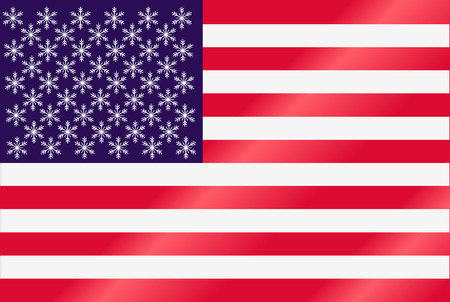 american christmas flag Vector