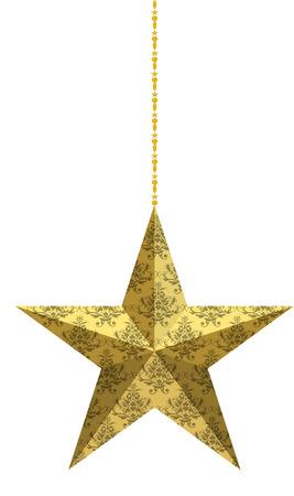 Decoración de Navidad árbol de la estrella Foto de archivo - 28812700