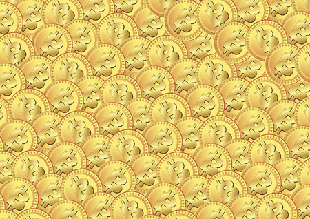 BITCOIN BACKGROUND  Vector