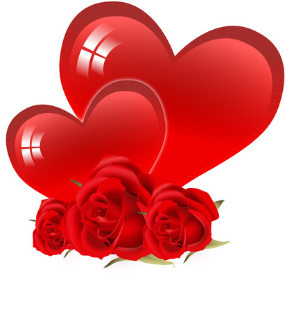 HEARTS AND ROSES Vector