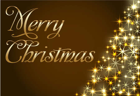 free christmas background: MERRY CHRISTMAS TREE CARD Illustration