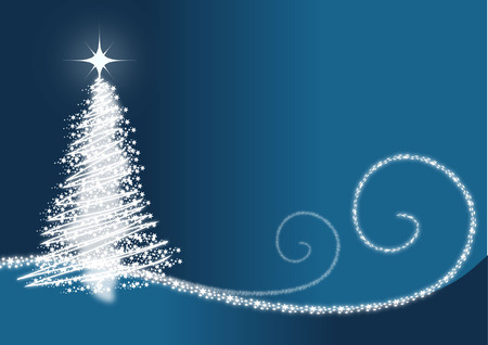 GLOWING CHRISTMAS TREE BACKGROUND Vector