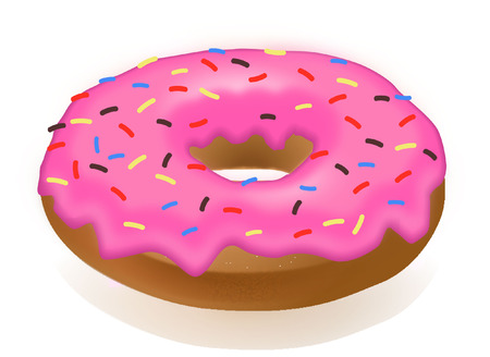 ICED DONUT  Vector