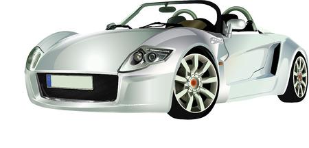 roadster: SILVER SPORTS CAR